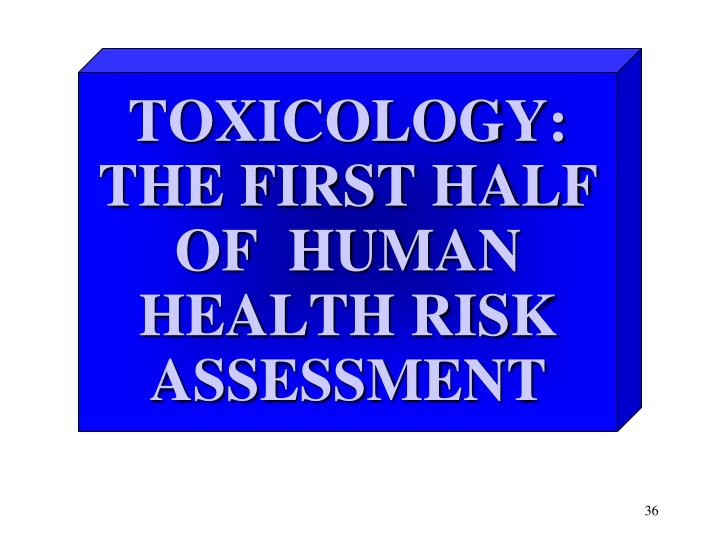 Ppt - Human Health Risk Assessment Process Powerpoint Presentation