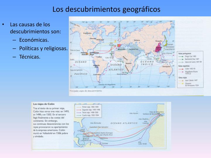 Los descubrimientos geográficos