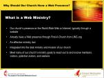 what is a web ministry