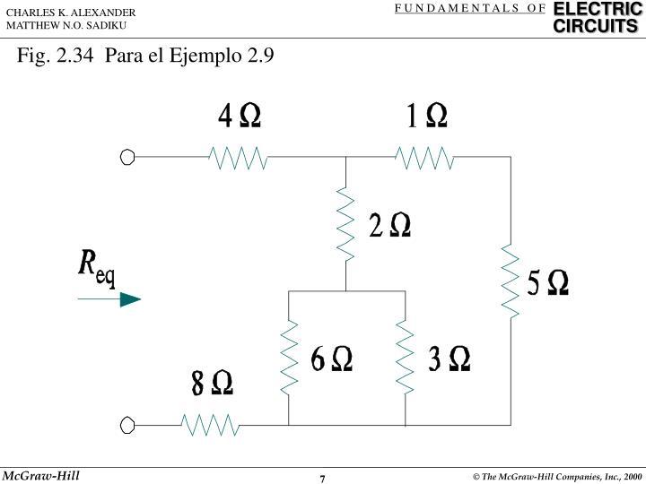 Fig. 2.34  Para el Ejemplo 2.9