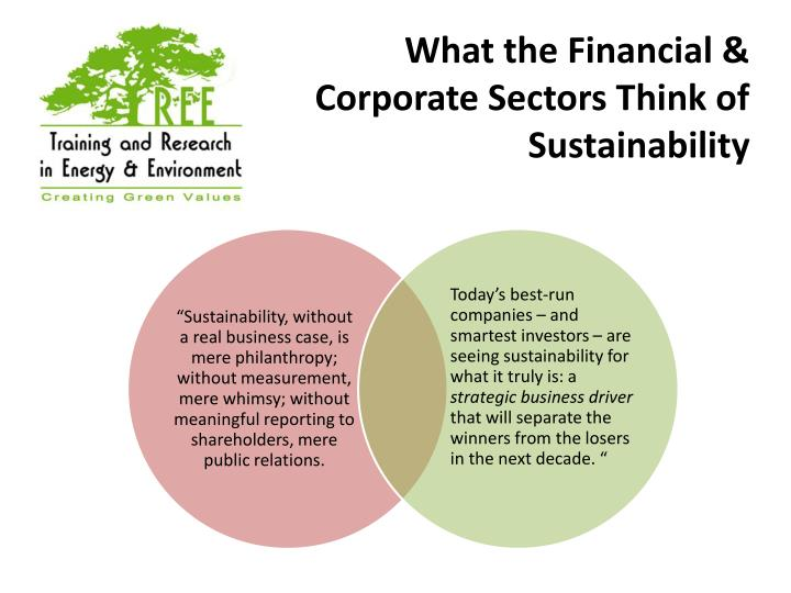 What the Financial & Corporate Sectors Think of Sustainability