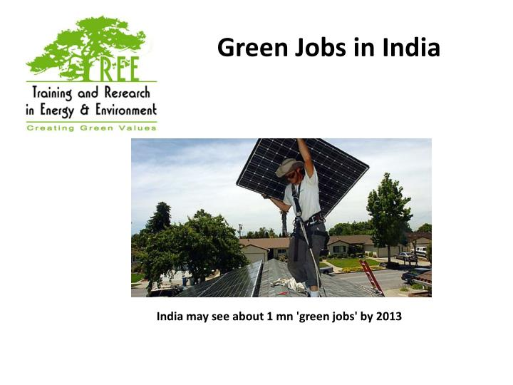 Green Jobs in India