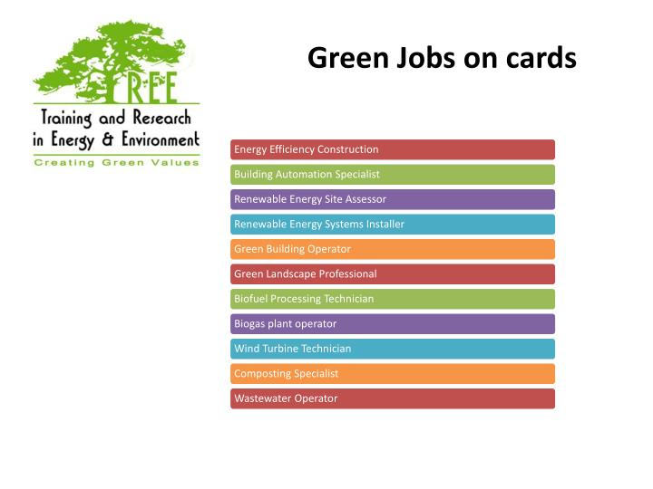 Green Jobs on cards