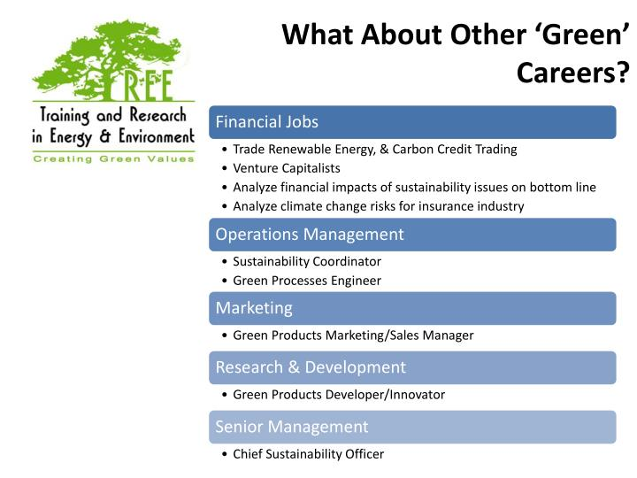 What About Other 'Green' Careers?