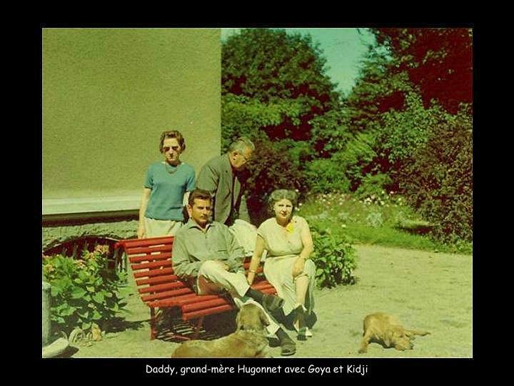 Daddy, grand-mère Hugonnet avec Goya et Kidji