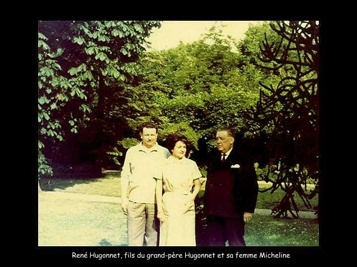 René Hugonnet, fils du grand-père Hugonnet et sa femme Micheline