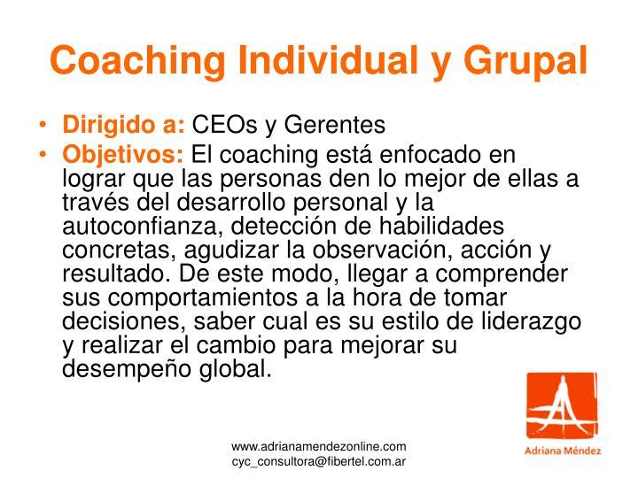 Coaching Individual y Grupal