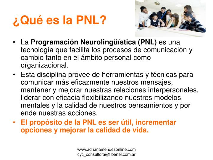 ¿Qué es la PNL?