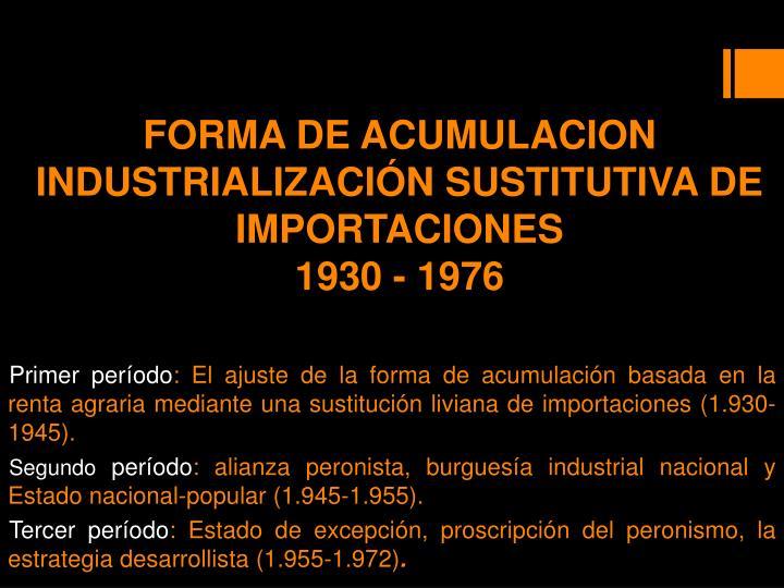 FORMA DE ACUMULACION