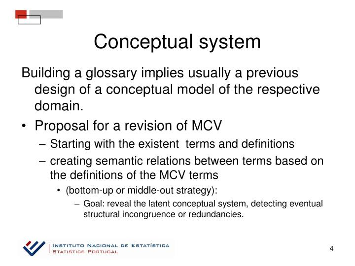Conceptual system