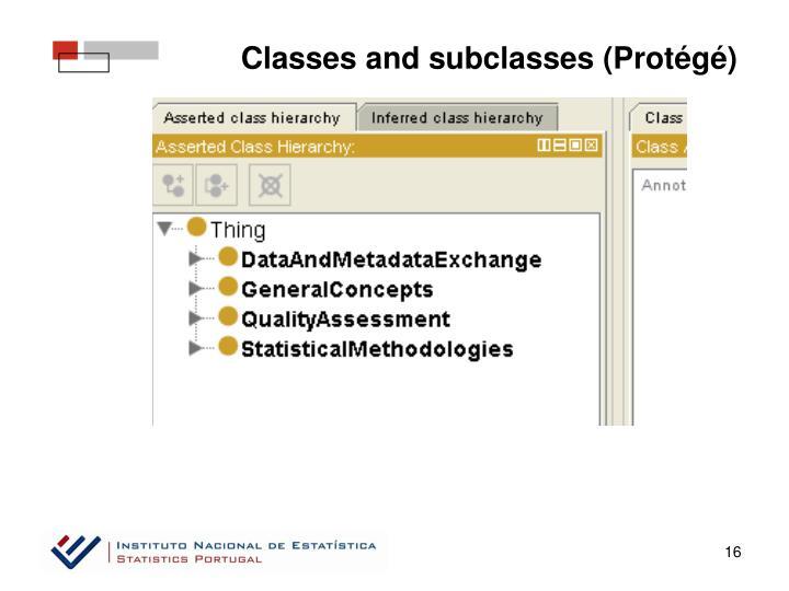 Classes and subclasses (Protégé)