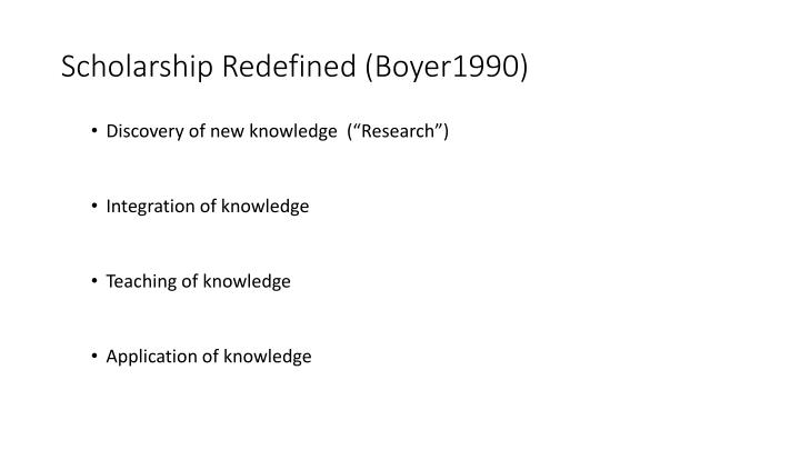Scholarship Redefined (Boyer1990