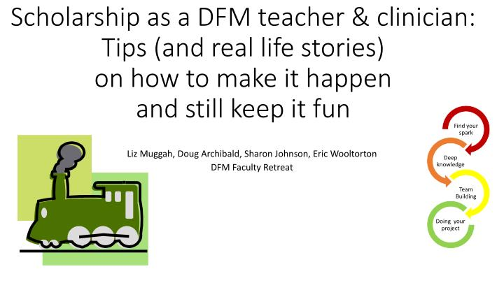 Scholarship as a DFM teacher & clinician: