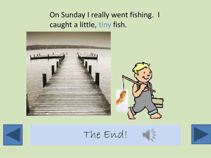 On Sunday I really went fishing.  I caught a little,