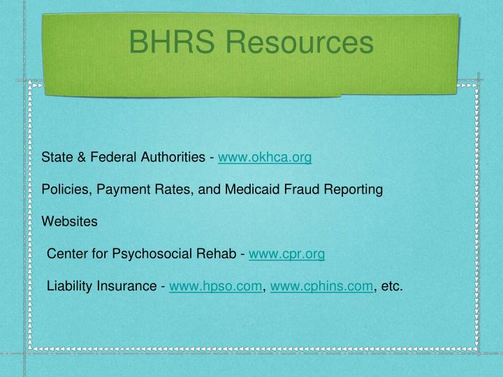 BHRS Resources