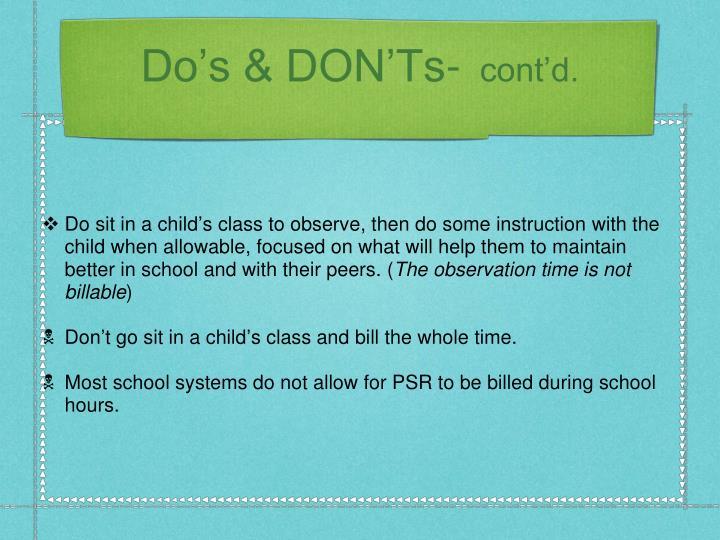 Do's & DON'Ts-