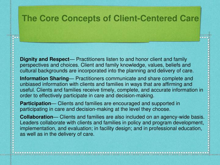 The Core Concepts of Client-Centered Care
