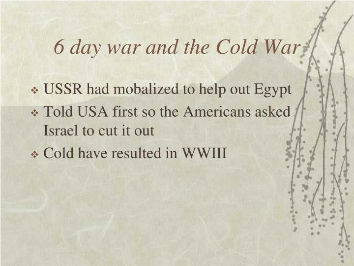 6 day war and the Cold War
