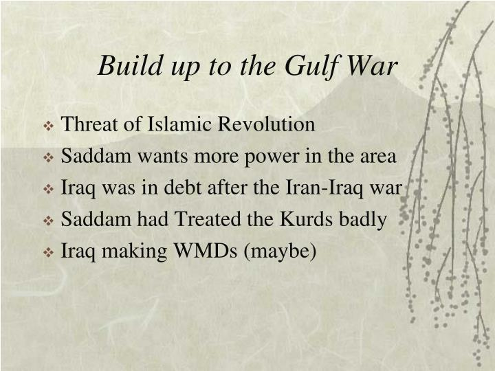 Build up to the Gulf War