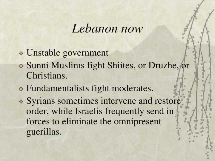 Lebanon now