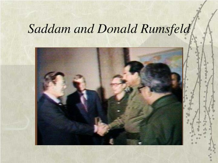 Saddam and Donald Rumsfeld