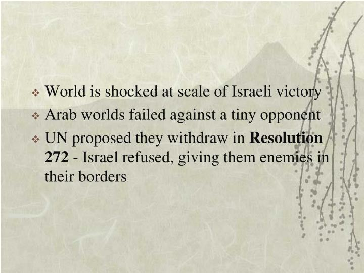 World is shocked at scale of Israeli victory