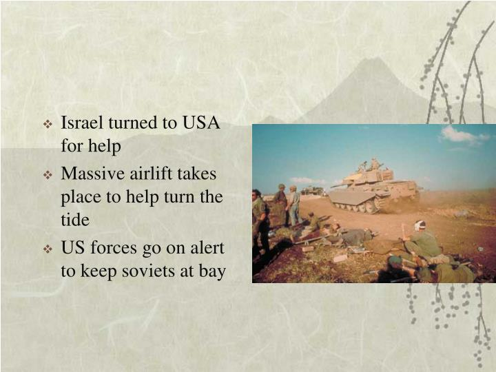 Israel turned to USA for help