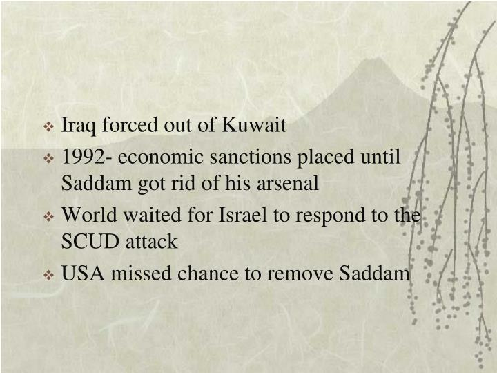 Iraq forced out of Kuwait