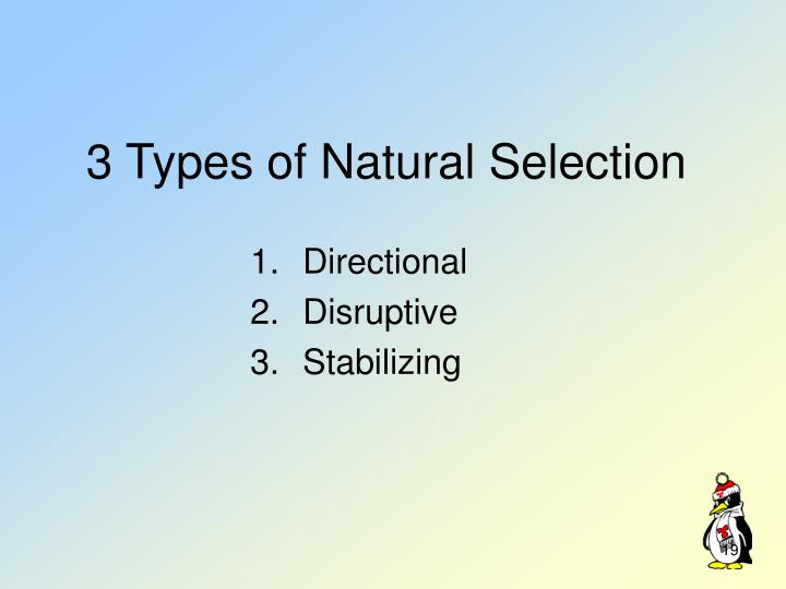 3 Types of Natural Selection