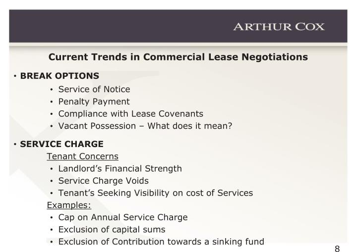 Current Trends in Commercial Lease Negotiations