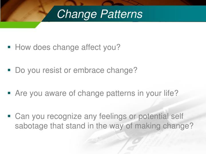 Change Patterns