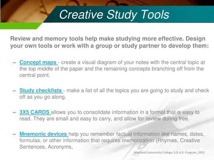 Creative Study Tools