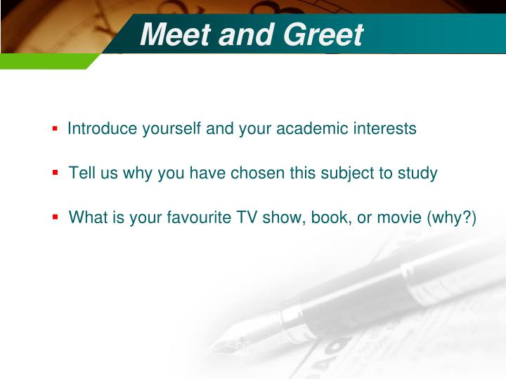 Introduce yourself and your academic interests
