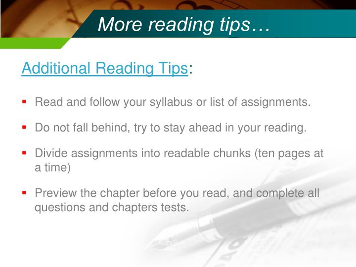 More reading tips…