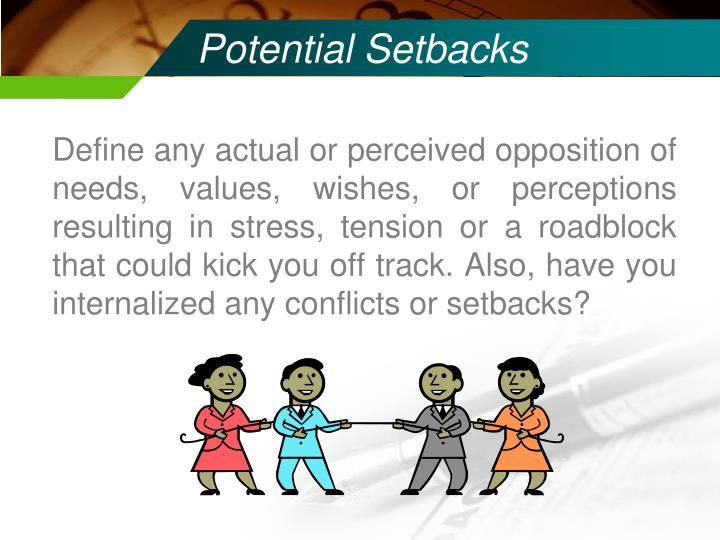 Potential Setbacks
