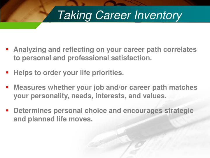Taking Career Inventory