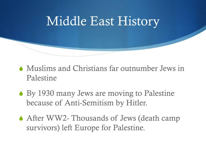 Middle East History