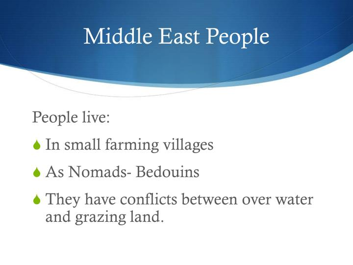 Middle East People