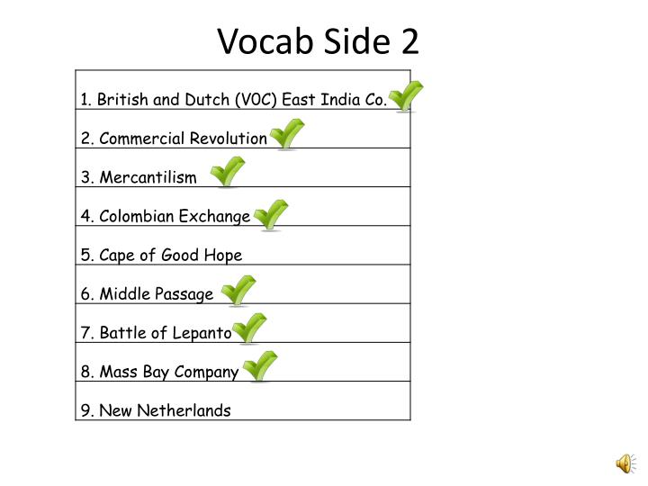 Vocab Side 2