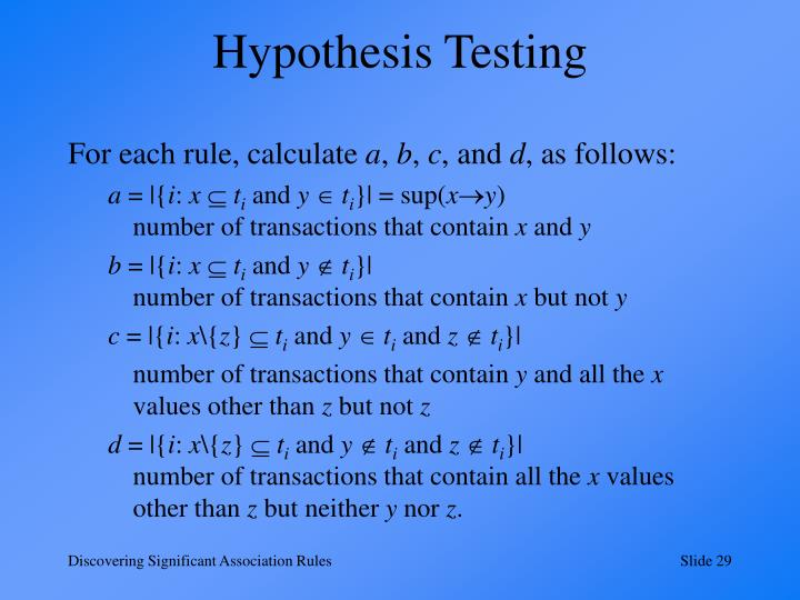 Hypothesis Testing