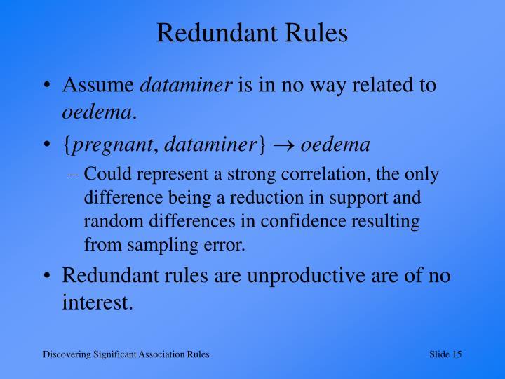 Redundant Rules