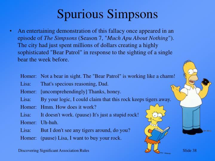 Spurious Simpsons