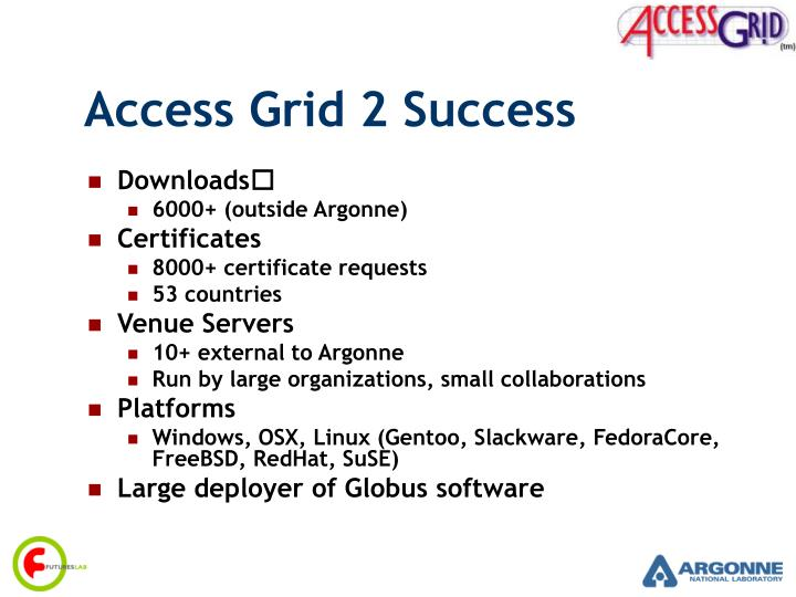 Access grid 2 success