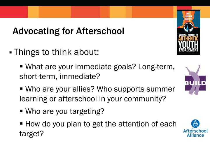 Advocating for Afterschool
