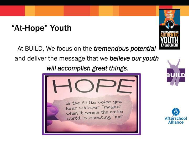 """""""At-Hope"""" Youth"""
