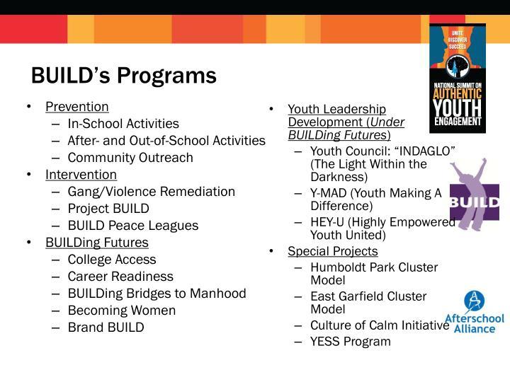 BUILD's Programs