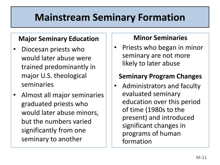 Mainstream Seminary Formation