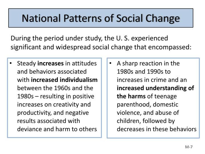 National Patterns of Social Change