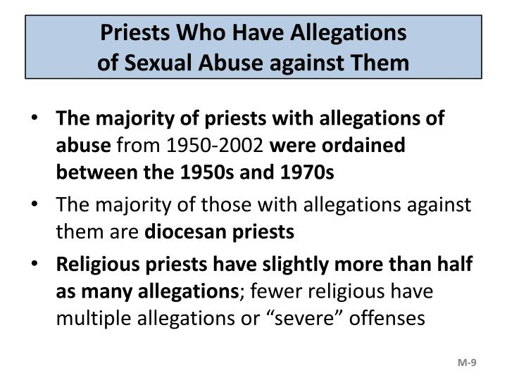 Priests Who Have Allegations