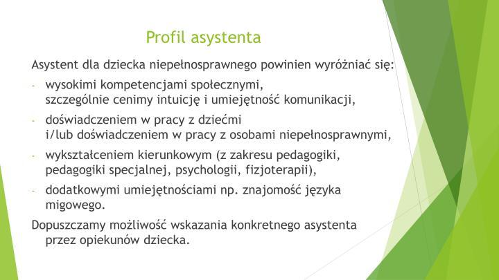 Profil asystenta